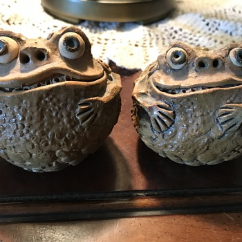 Clay Toad Salt and Pepper Shakers - Kitchen