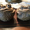 Clay Toad Salt and Pepper Shakers