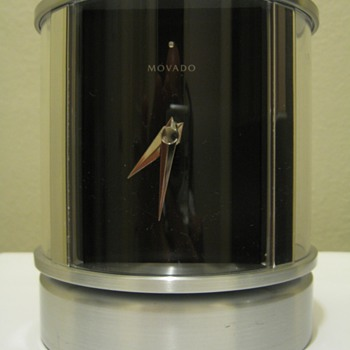 MOVADO CLOCK ,THERMOMETER,HUMIDITY, PICTURE FRAME ( CORP GIFT)