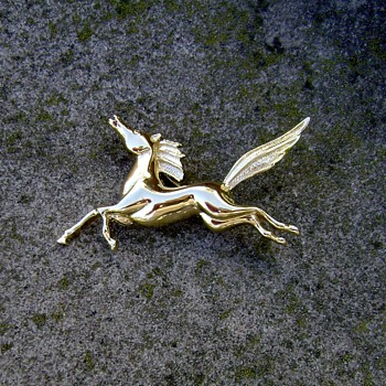 Trifari Horse Brooch  - Costume Jewelry