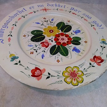 HAND PAINTED TRAY - Folk Art