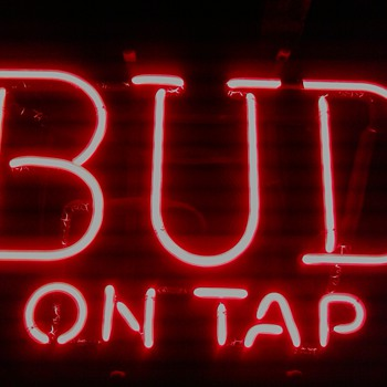 "Vintage Budweiser ""Bud on Tap"" Sign"