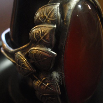 Arts & Crafts Carnelian Ring
