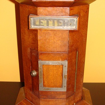 Antique Wooden Hexagon Shaped Mailbox