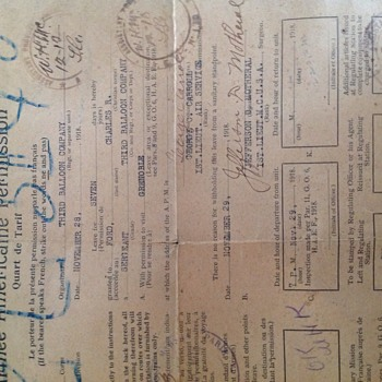 Antique military document