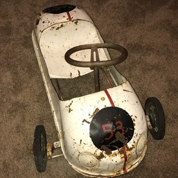 Purchased in Japan 1964, painted 1968.   Anyone know about this pedal car?