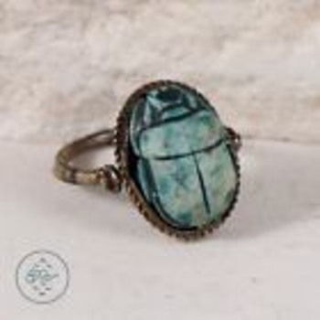 Scarab Ring (with collapsing/swivel ring)  - Costume Jewelry