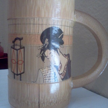 Kitagawa Utamaro Wooden Cup - Asian