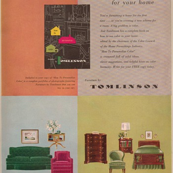 1950 Tomlinson Furniture Advertisement - Advertising