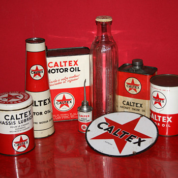 Caltex oil cans collection - Petroliana