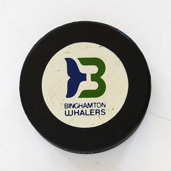 Binghamton Whalers Hockey Puck…..