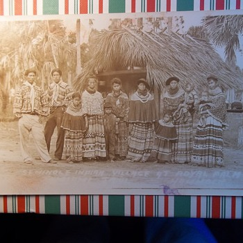 1932 Seminole Indian village - at Royal Palm Hammock on the Tamiami Trail. ENLARGE,GOOD PHOTO