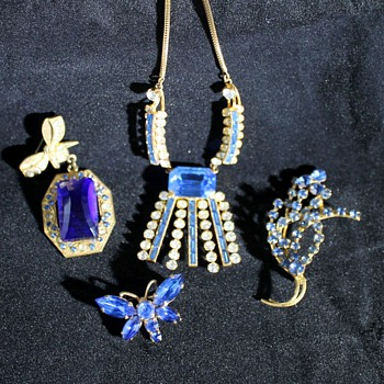 Costume Jewellery - Some Blues - Costume Jewelry