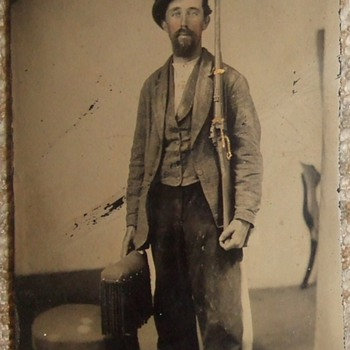 Model 1863 Sharps Carbine in tintype