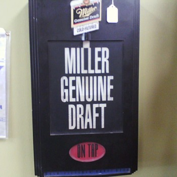 Miller on Tap motion light - Breweriana