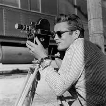 James Dean by Sid Avery on the set of GIANT  photos signed by Avery - Photographs
