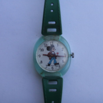1970 Adorable Sales Mickey Bubble Watch - Wristwatches