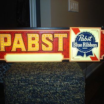 VINTAGE PABST BEER ADVERTISING LIGHT/SIGN/LAMP
