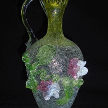 Victorian Jug/Pitcher with applied decoration - Art Glass