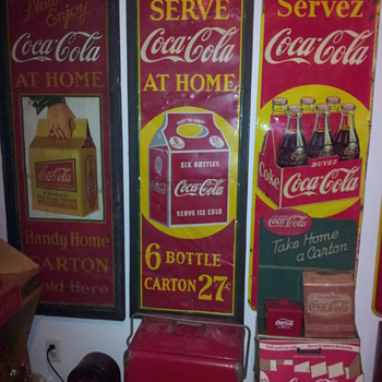 1930's Coca-Cola Carton Vertical Sign - Coca-Cola