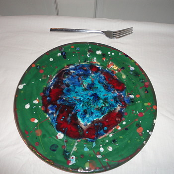 Abstract Art Plate - Pottery