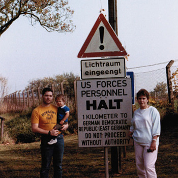 East German Border - Signs
