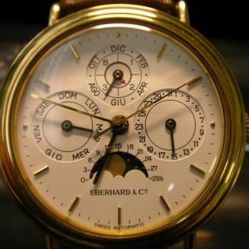 1989 Eberhard & Co. Perpetual Calendar Wristwatch - Wristwatches