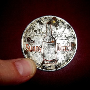 Sunny Brook whiskey coin - Advertising
