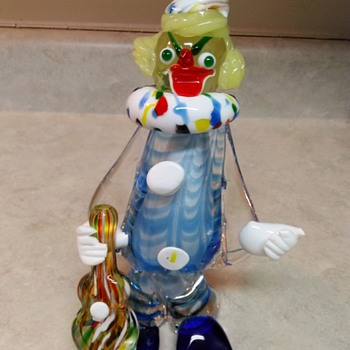 LARGE GLASS CLOWN