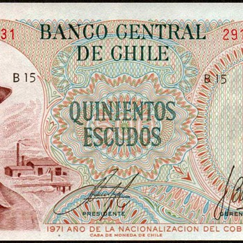 Chile - (500) Escudos Bank Note