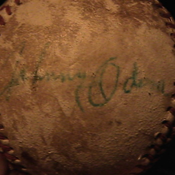 Old Baseball Signed Unknown??? - Baseball