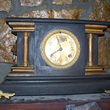 New Haven Clock Co &quot;PRESCOTT&quot; on tag - Clocks