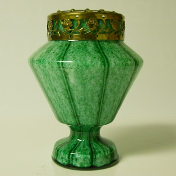 UPDATE--Frank Welz Art Deco Bohemian Posie Vase & Cie, Circa 1920-30 - Art Glass
