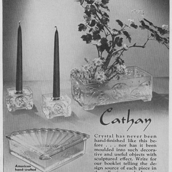 1950 Imperial Glassware Advertisement