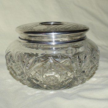 Birks Sterling and Crystal Dresser Jars - Sterling Silver