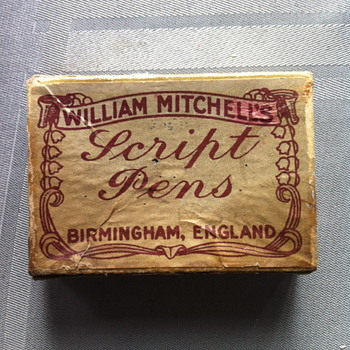 William Michell's Script Pens and box