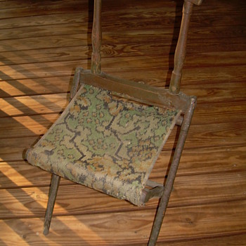 United states civil war camp chair circa 1861 - Furniture