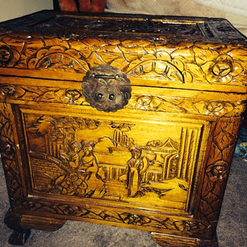 Antique chest I want to find answers to  - Furniture