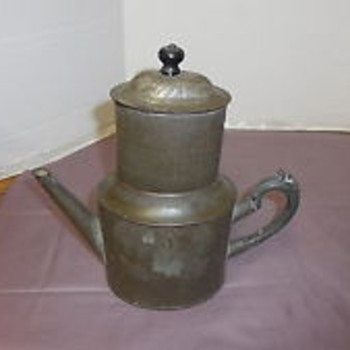 Antique Metal Ware Miners Camp Coffee Pot Kreamer Brand