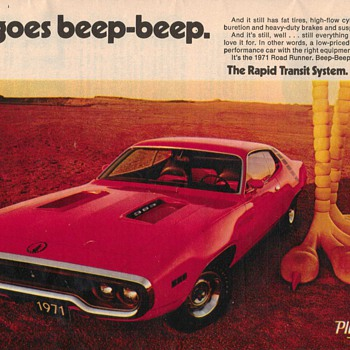 1971 Plymouth Roadrunner Advertisement - Advertising