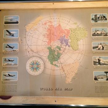 TWA world Route Map 1943