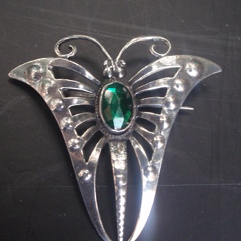 Arts & Crafts Butterfly Brooch - Horner