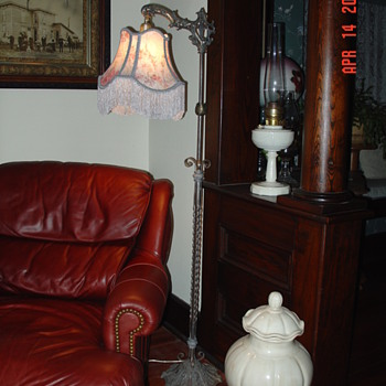 Antique Floor Bridge Lamp