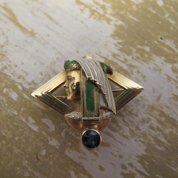 Egyptian Revival Watch Fob Pin