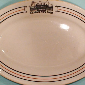 Ship Hotel And Restaurant Grand View Point, Pennsylvania Original Dinnerware And Vintage Postcard - China and Dinnerware