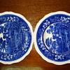 English Staffordshire Copeland Spode dinner and soup plates