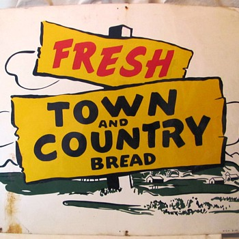 Old Town and Country Bread Sign-Hand Painted