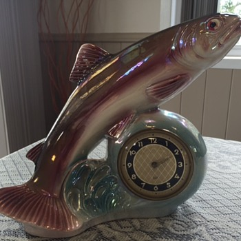 Jema Holland Large Trout Fish Clock (471) - Clocks
