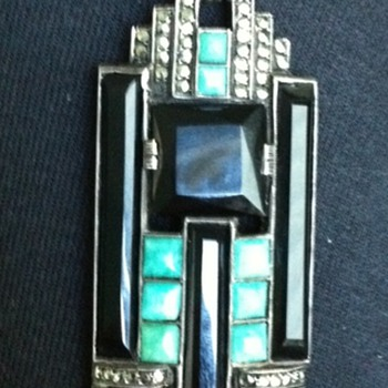 Gorgeous Theodor Fahrner Art Deco Pendant - Art Deco