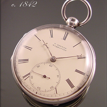 Sterling Silver Chain Driven T.Brewer Fusee Pocket Watch - Pocket Watches